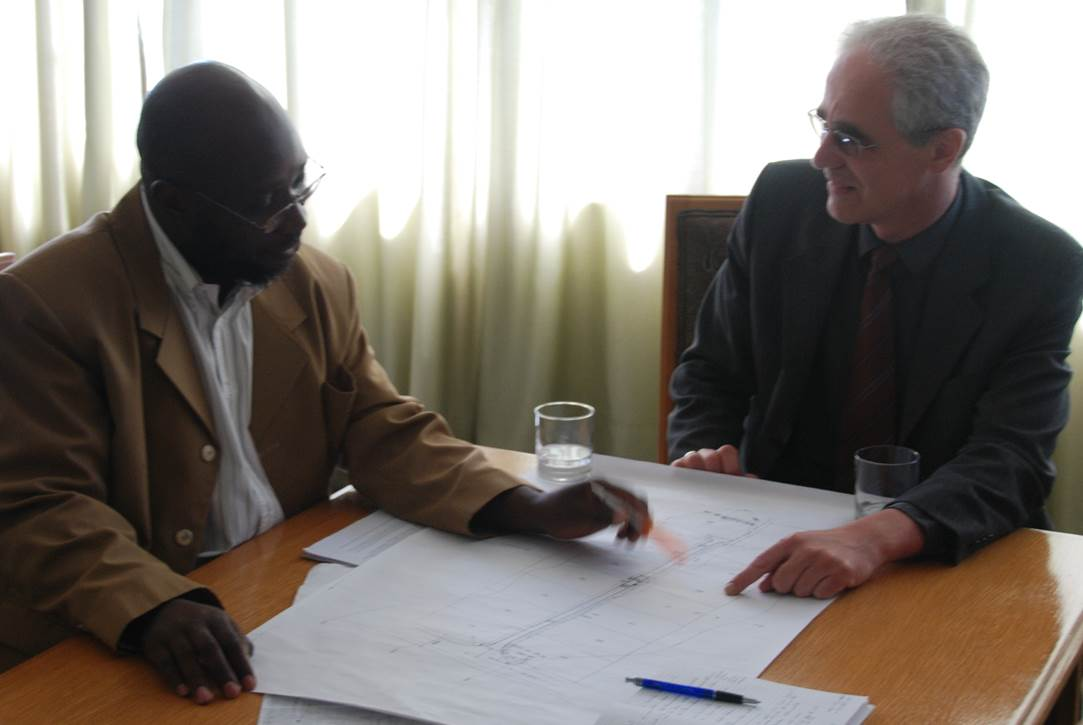 Consulting session with Hartmut in Harare, Zimbabwe